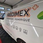 Publicité sur voiture Prodimex.